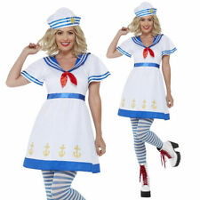 Ladies Sailor Costume Adults Sexy Crew Fancy Dress Womens Hen Do Outfit UK 8-18