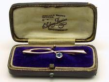 Beautiful Antique 9carat 9k Rose Gold Seed Pearl & Zircon Brooch Original Case