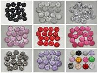 "100 Round Flatback Resin Dotted Rhinestone Beads 10mm(3/8"") Pick Your Color"