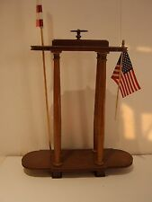 "Wood ""Memorial"" Stand for Picture/Urn/Flags 22"" x 16."