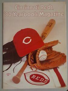 1980 CINCINNATI REDS YEARBOOK MAGAZINE PETE ROSE JOHNNY BENCH BASEBALL