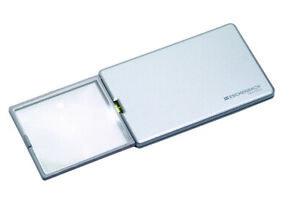 Eschenbach EasyPocket 152111 LED 'Pop'Up' Silver 3X Credit Card Size Magnifier
