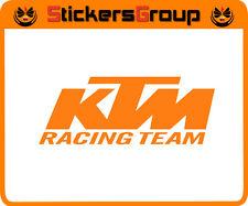 COPPIA ADESIVI KTM RACING TEAM PER AUTO MOTO SCOOTER IN VINILE NEW