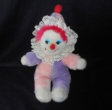 VINTAGE RUSS BERRIE CORKY PINK CLOWN CHIME CLOWN DOLL STUFFED ANIMAL PLUSH TOY