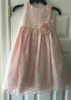 Girls Pretty Cinderella Pink Sequin Dress Size 4T **Please Read**