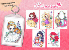 Disney Princesses Key chain - Cinderella, Belle, Little Mermaid, Rapunzel +