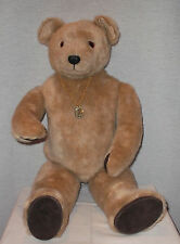 "Vintage Little Folks Tan ""Henry William"" 1982 29"" Jointed Collector Teddy Bear"