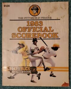 PITTSBURGH PIRATES 1983 SCOREBOOK: JOHN CANDELARIA, JASON THOMPSON, BILL MADLOCK