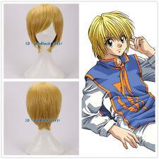 Hunter × Hunter Kurapika corto amarillo rubia Anime Cosplay Peluca + un casquillo de la peluca