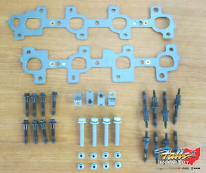 99-2007 Jeep Dodge Ram Exhaust Manifold Replacement Kit Nuts Bolts Gasket Studs