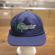 dab4fc65a9b Newport News Golf Club Virginia USA Embroidered Navy Blue Baseball Cap Hat