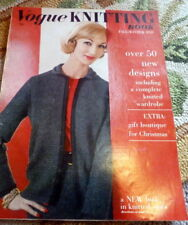 RARE VTG 1950s VOGUE KNITTING BOOK 1959 *50 Designs to Knit* Hats Dresses Stoles