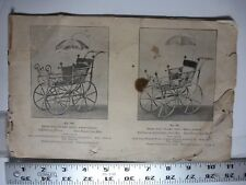 Partial Baby Buggy, Rocking Hourse & Children's Chairs Pamphlet.circ 1890. AB110