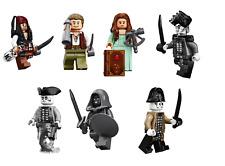PIRATES OF CARIBBEAN Minifigure Lego Jack Sparrow Carina Henry nuovi Salazar