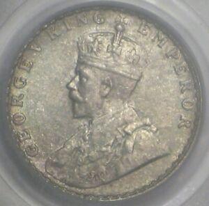1928-B British INDIA - Silver 1/4 Rupee - PCGS MS64