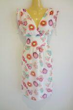 Stunning luxe white soft abstract-print silk designer Summer dress sz14 NWT!!!