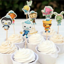 24 Pcs Octonauts  CUPCAKE CAKE TOPPERS Party Supplies Lolly Loot Bags Decor