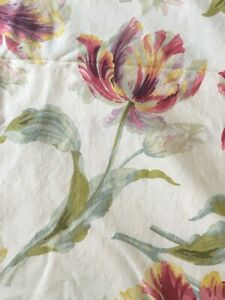 LAURA ASHLEY Gosford cranberry cotton king size duvet cover used