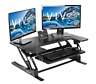 VIVO Black Height Adjustable 36 inch Stand up Sit to Stand Desk Converter BLACK