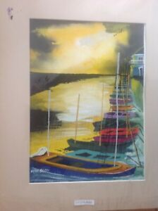 Peter Scott Original water colour painting signed Wells Next The Sea North Norfo