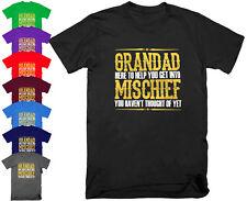 Grandad Mischief Mens Funny T Shirt Gift Grandad Birthday Fathers Day S - 5XL