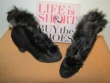 Vintage Fur Trim over the Shoe Booties - 1940's - 1950's