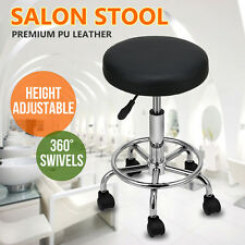 Hairdressing Salon Chair Round PU Equipment Swivel Lift Stool Barber Beauty AU