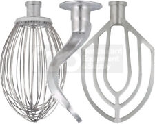 60 Qt Attachment Set Dough Hook Wire Whip Flat Beater For H600 Hobart Bowl Mixer