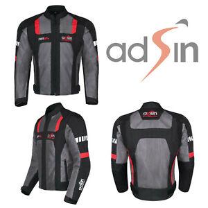 Motorbike Motorcycle Jacket Waterproof CE Armoured Protect Cordura Textile Biker