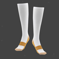 White Compression Socks Leg Calf Varicose Relief Stocking Knee High Xl/xxl