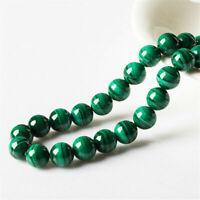 Natural Malachite Gemstone Round Loose Spacer Beads 15.5'' Strand 4/6/8/10/12mm
