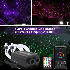 12V Car Headliner Star Light kit Roof Ceiling Lights Fiber Optic BT APP Control
