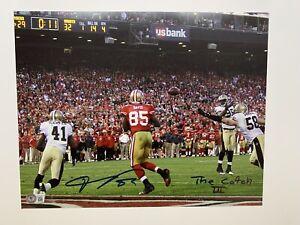 Vernon Davis autographed 11x14 photo Beckett Witnessed 49ers The Catch III 840