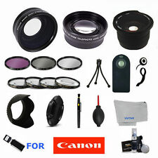 58MM Lens & Filter Kit for Canon Rebel T5i T4i T3i T3 T2I T6 T6I 18-55mm 25 Pcs