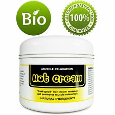 Muscle Relaxation Hot Cream - 4 Oz | Pain Relief + Aromatherapy | 100% Natural