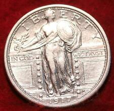 Uncirculated 1917 Type 1 Philadelphia Mint Silver Standing Liberty Quarter