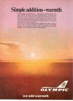 1979 Original Advertising' Vintage American Olympic Airways Grecia Warmth