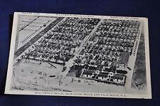 1937 Hollywood Beach Trailer Park Right on the Ocean, Florida Postcard