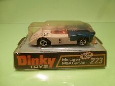 DINKY TOYS 223 Mc LAREN M8A CAN AM - WHITE BLUE 1:43? - GOOD IN BLISTER