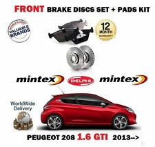 FOR PEUGEOT 208 1.6 GTI THP 165 2012-> FRONT BRAKE DISCS 323 SET + DISC PADS KIT
