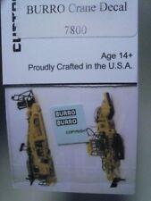 Custom Finishing HO Burro Crane Decal Set #7800 ->FAST SHIP!