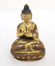 Antique Chinese Parcel Gilt Bronze Buddha Statue Figure Tibetan Miniature