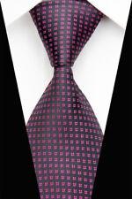 GL0625 Pink Black Floral Man Classic JACQUARD Woven Necktie Tie Casual JN