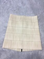 Pleasure Doing Business Tan Beige Bandage Stretch Poly Rubber Mini Skirt Sz S