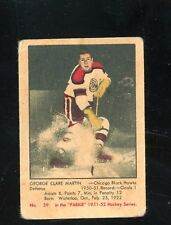"1951 Parkhurst #39   George Clare Martin   ""Fair/Good""  Black Hawks  LOOK!!!"