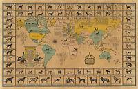 Early Pictorial Map of Arrowhead Minnesota Wall Art Poster Print Artwork Decor