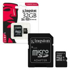 Kingston Micro SD SDHC Memory Card TF Class 10 16GB 32GB 64GB & SD Card Adapter