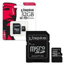 Kingston Micro SD SDHC Memory Card TF Flash Class 10 16GB 32GB & SD Card Adapter