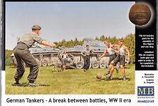 Master Box WWII German Tankers, Soccer Break, Figures in 1/35 149 ST