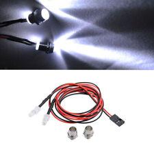 2 LEDs Lights Lamp Kit for RC 1/5 1/8 1/10 1/12 1/16 Car Traxxas HSP White